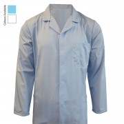 CATERING JACKET WITH TWIN ADJUSTABLE STUDS ON CUFFS & INTERNAL TOP POCKET